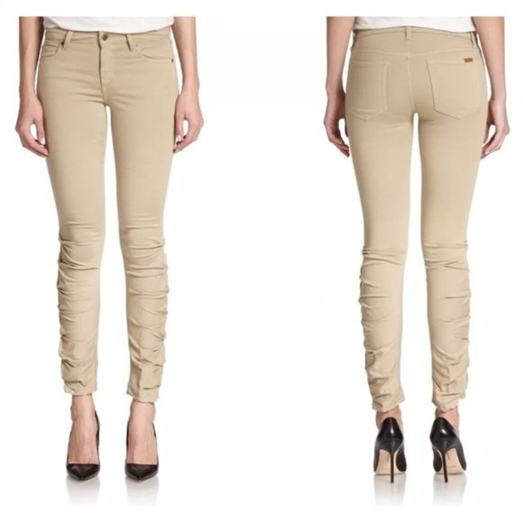 Joe's Jeans So Soft Ruched Skinny Ankle Jean - 27!